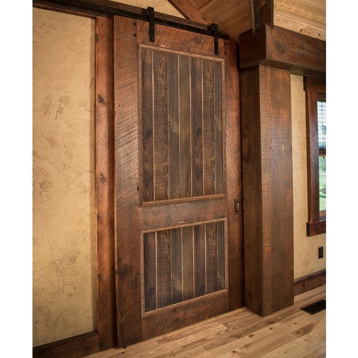Alder Timber Frame Barnwood Sliding Door With Images Barn