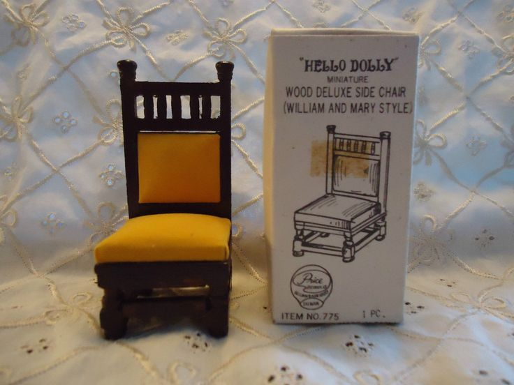 VINTAGE HELLO DOLLY DELUXE SIDE CHAIR WILLIAM MARY STYLE MINIATURE DOLLHOUSE | eBay