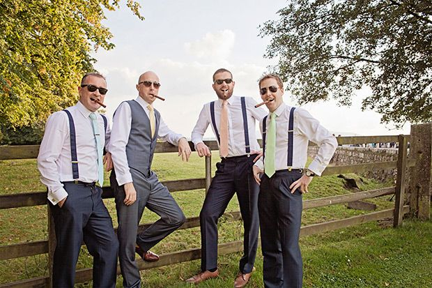 pastel groomsmen ties |  Ciaran and Louise's perfectly pastel Borris House wedding by Katie Kav | www.onefabday.com