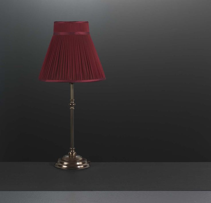 Amport garnet red lamp shade in