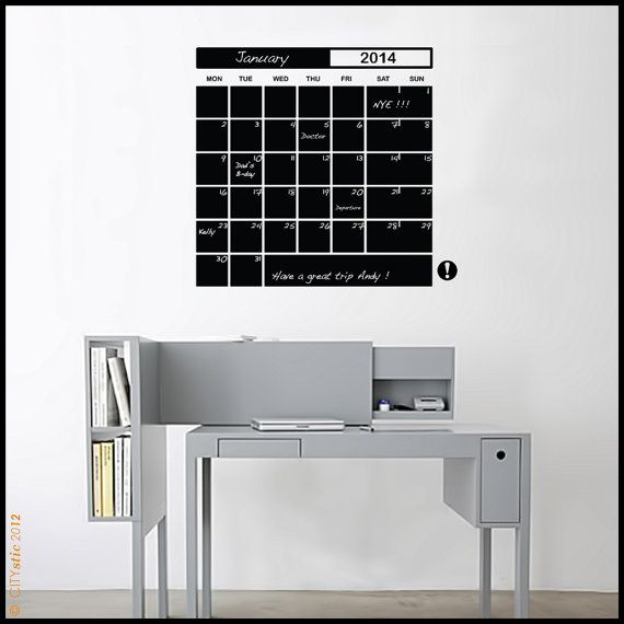 On Sale GRAPHIC WALL DECAL : Month Planner Liquid chalk Pen Schedule planning decal 31 days and memo