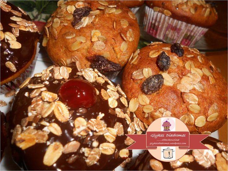 Apple cinnamon cupcakes & Chocolate apple cinnamon cupcakes / glykesdiadromes.wordpress.com