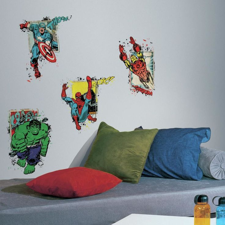 Internet Only Marvel Superhero Burst Wall Decal