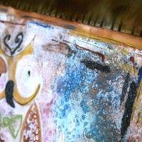 INSONNIA D'AMORE www.alicefagnocchi.it #metal #steel #iridescent #copper #fantasia #occhio #ciglia #gufo #paint