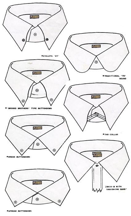 TAB COLLAR, MAYBE THE LOOP CAN BE TUCKED IN UNDER COLLAR WHEN NOT USED (with small buttons)