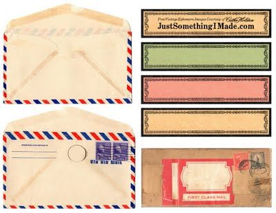 Free vintage mailing label print-outs: Envelopes Templates, Vintage Paper, Vintage Labels, Vintage Envelopes, Free Vintage, Vintage Mail, Free Printable, Mail Call, Vintage Image