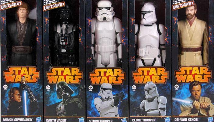 18.02$  Watch now - http://alirp5.shopchina.info/go.php?t=32573570705 - Star Wars Toy Stormtrooper Darth Vader Anakin Skywalker Obi-Wan Kenobi Clone Trooper PVC Action Figure Star Wars 18.02$ #aliexpress