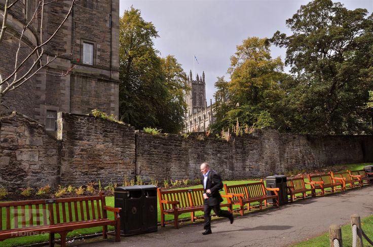 The Suited Jogger - Princes Street Gardens photo | 23 Photos Of Edinburgh