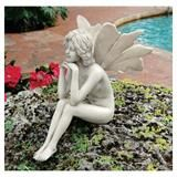 The Secret Garden Fairies: Pondering Fairy Statue (Design Toscano) (813197013964) - product summary - Bing Shopping