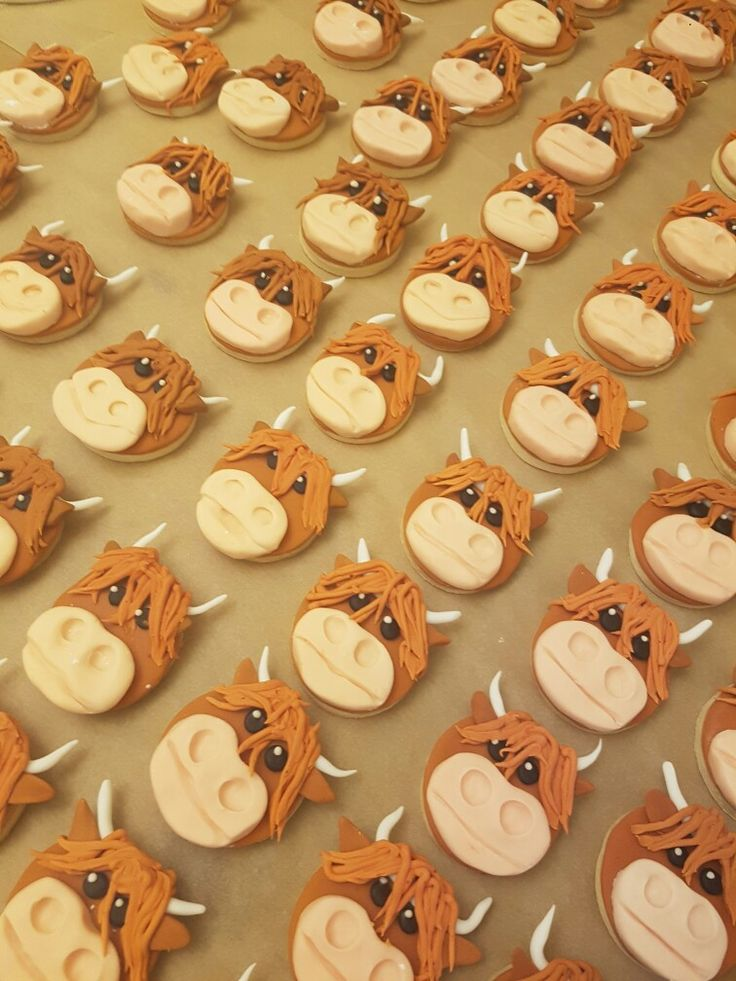 Highland cow wedding favours