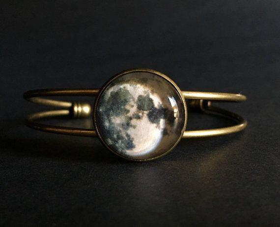 La lune pleine lune de Bracelet Gourmette bijoux | Bracelet de la pleine lune | Bracelet de la pleine lune | Cadeau de lune pleine lune bijoux Bracelet | Bracelet de la pleine lune