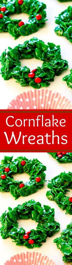 Cornflake Christmas Wreaths.  I loved these as a kid!
