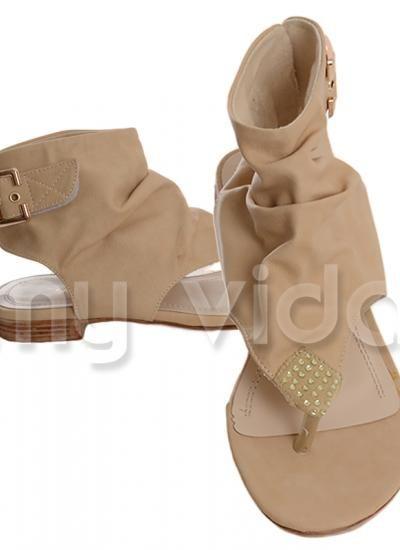 #shoes #sandals BEIGE - Sandalo #donna #infradito modello #fashion alla schiava. Ciabattina tacco basso con motivo romboidale a #strass e fibia laterale. https://www.myvida.org
