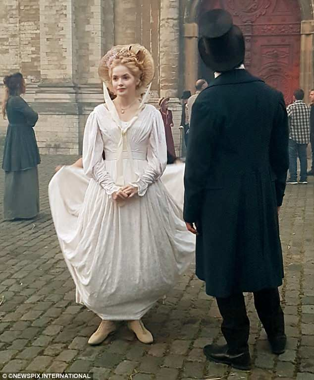 78cd1ffaa34 Dominic West and Ellie Bamber film scenes for new Les Miserables TV series  in Brussels