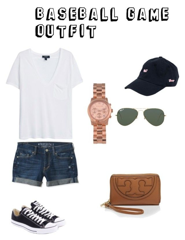 """""""baseball game outfit"""" by preppypink on Polyvore"""