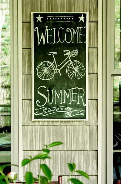 Screened Porch Chalkboard for Summer