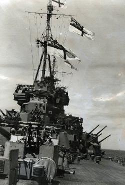 HMS Duke of York at sea