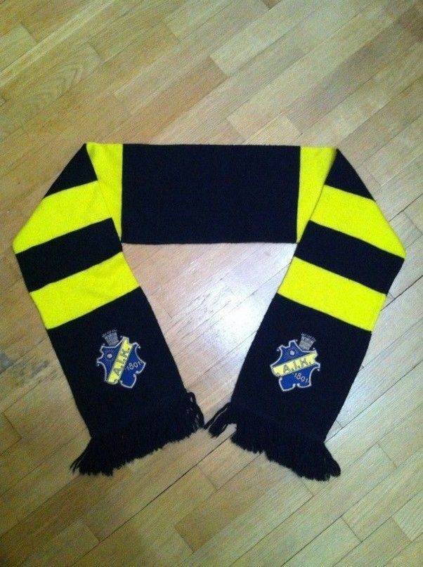 aik fotboll stockholm sweden rare #Football fan scarf from $9.99