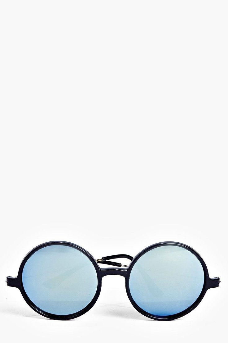 Sophia Retro Round Revo Lens Sunglasses
