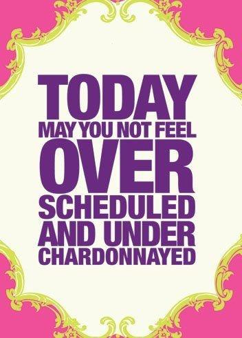 No getting over Chardonnay!