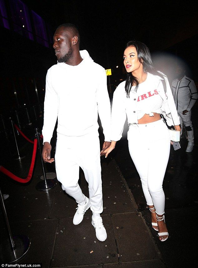 Heading in! The girls rubbed shoulders with a bevy of stars at the bash, including rapper Stormzy who held hands with his girlfriend Maya Jama while entering the event