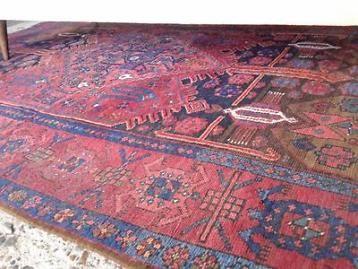 Vintage pers Iran retro Oosters tapijt Perzisch kleed 228 cm