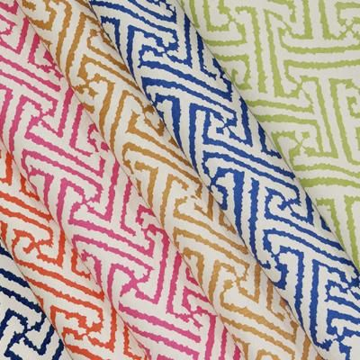 Color & Pattern Inspiration Quadrille--I love this one--reminds me of family room pattern