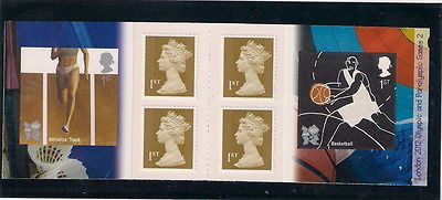 Gb #stamp #booklet - 2010 london 2012 olympic games, athletics and #basketball,  View more on the LINK: 	http://www.zeppy.io/product/gb/2/381907050349/