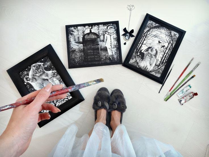 Marta Julia Piórko, artist, paintings, pop surrealism