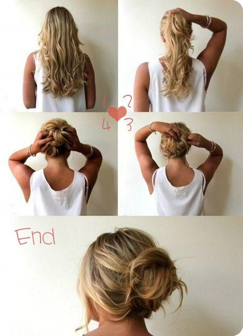 The 9 Most Flattering 5 Minutes Easy Messy Up-do