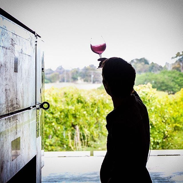 Considered one of the best wineries in the country, Clonakilla in Murrumbateman produces a number of varieties, including Shiraz, Riesling and Chardonnay, but is probably best known for its outstanding Shiraz Viognier. The @clonakillawines team are currently keeping a close eye on the Shiraz Viognier 2016 press, as captured in this beautiful photo by David Reist. #visitcanberra