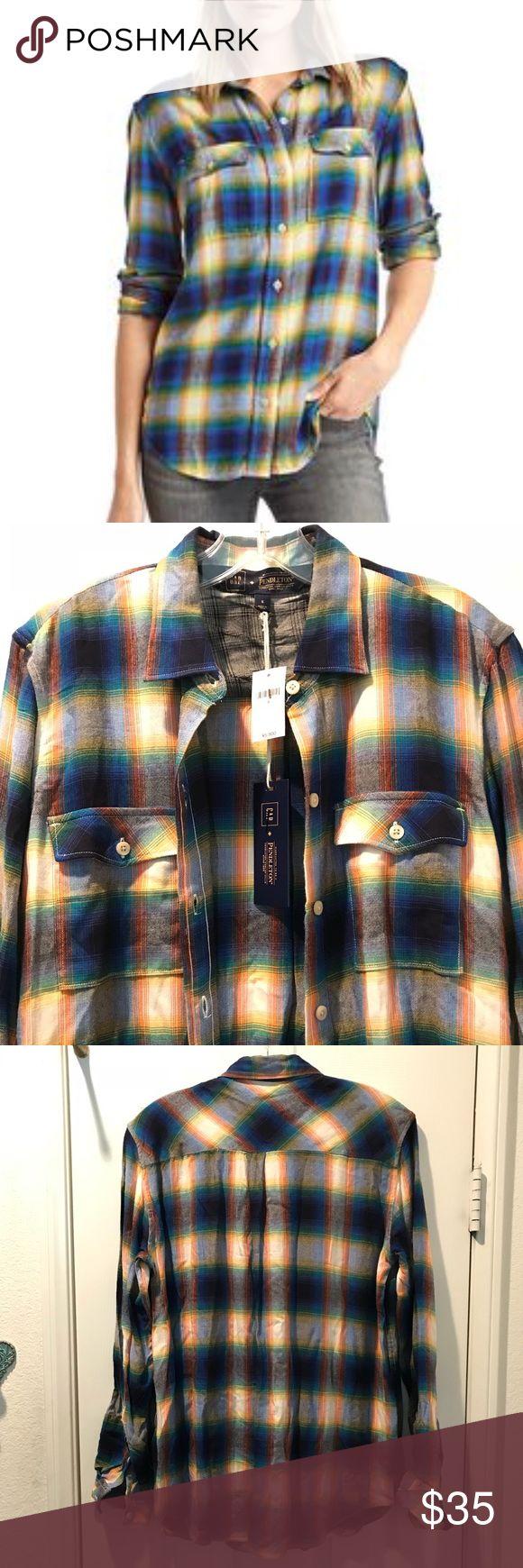 GAP & Pendleton plaid boyfriend shirt (NWT) GAP & Pendleton flannel boyfriend shirt. Super soft & cozy! 100% rayon/viscose Gap & Pendleton Tops Button Down Shirts