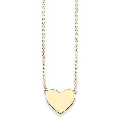 Thomas Sabo Gold Heart Love Bridge Necklace
