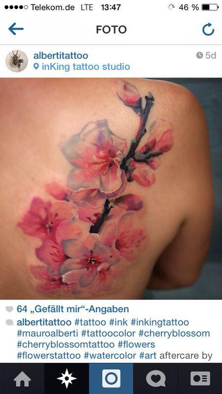 die 51 besten bilder zu tattoo auf pinterest kirschbl ten bl ten und japanische kirschbl ten. Black Bedroom Furniture Sets. Home Design Ideas