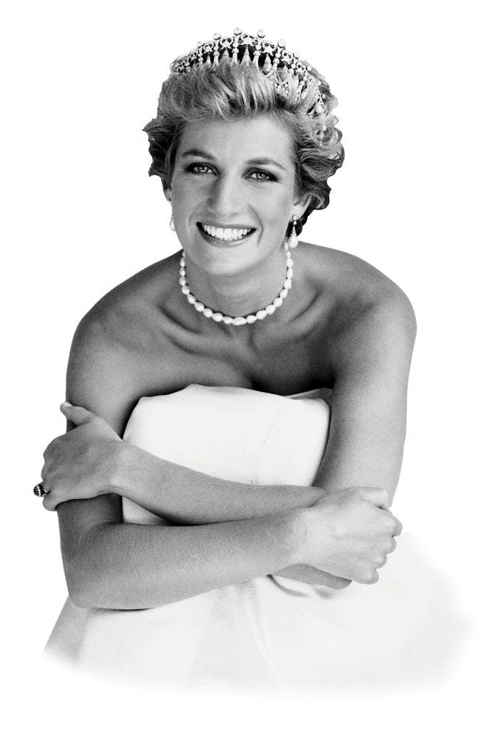 Diana, Princess of Wales (born Diana Spencer, 1961-1997) - first wife of Charles, Prince of Wales. Photo © Patrick Lemarchelier