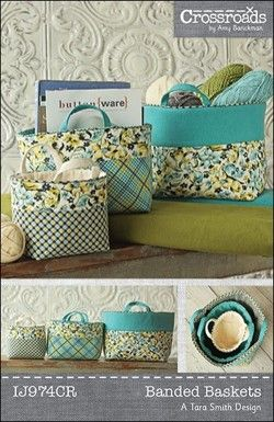Banded Baskets sewing pattern from Indygo Junction