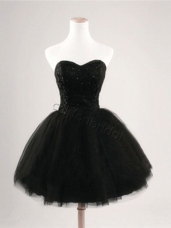 https://www.etsy.com/listing/175711964/black-short-prom-dress-ball-gown-prom
