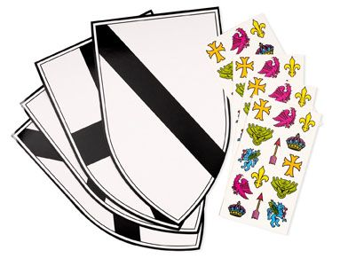 """Princess party craft - design your own shields for the knights * OR could make """"design your own superhero capes, too, Autumn!**"""