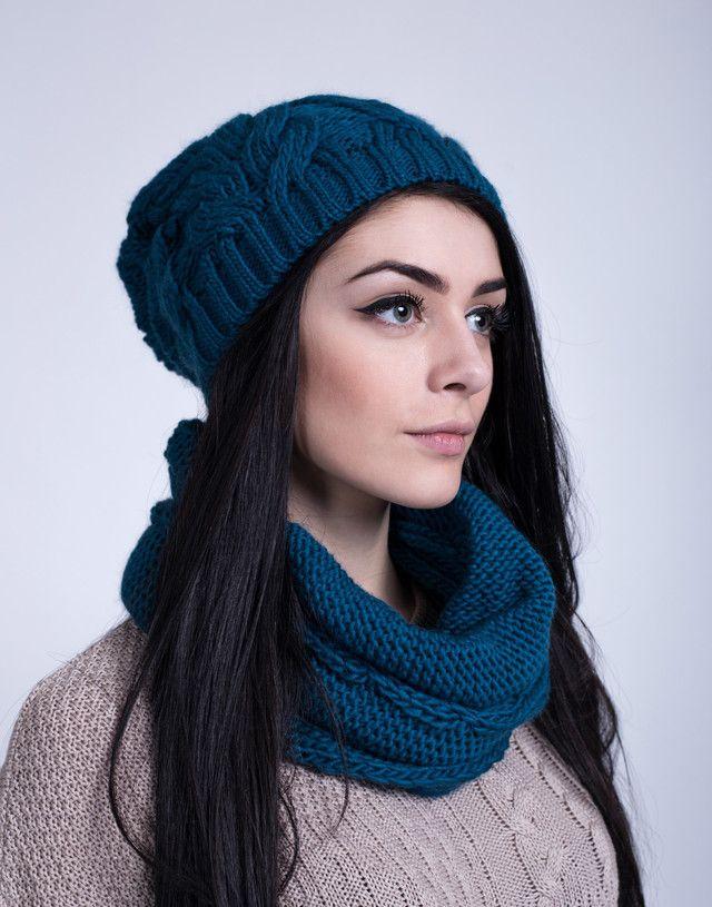 Модный женский комплект из шапочки и шарфа-хомута. - купить по лучшей цене в…