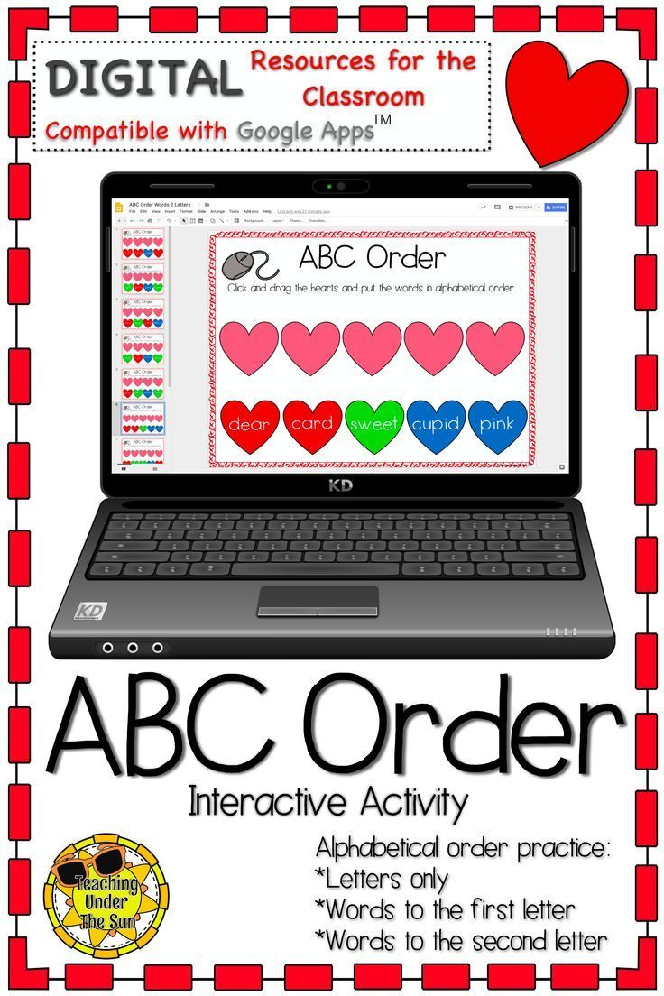 Alphabetical order activities for 3rd grade. Interactive worksheets for alphabetical  order for third grade. Digital g…   Abc order activities [ 1104 x 736 Pixel ]