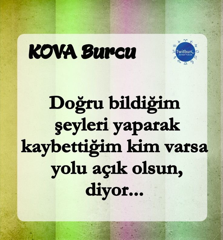 #Kova Burcu #astroloji #twitburc