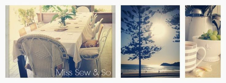 Miss Sew & So. New blog header- our life by the sea
