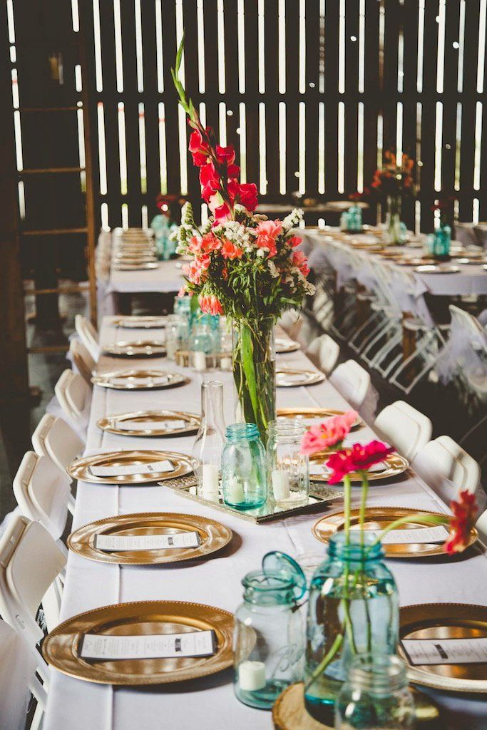 Beautiful And Simple Rustic Wedding Reception Centerpieces