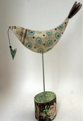 Big Bird and Heart - Shirley Vauvelle