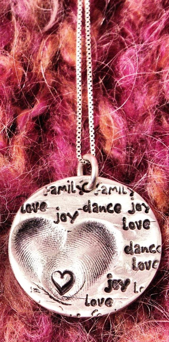 BABY TAGS Original 'Words of Love' Fingerprint by babytagsjewelry, $120.00