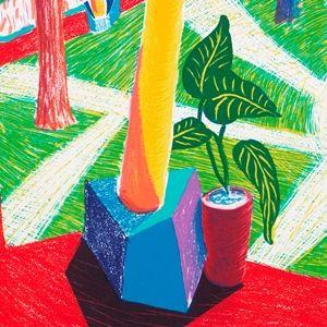 デイヴィッド・ホックニー版画展     《ホテル・アカトラン、2週間後》部分 1985年 リトグラフ © David Hockney / Tyler Graphics Ltd. Photo Credit: Richard Schmidt