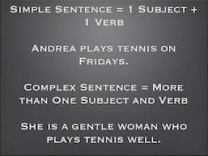 Complex Sentence Writing