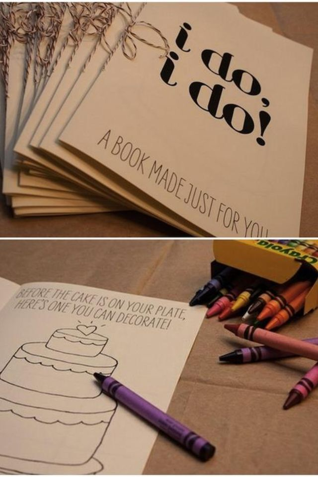 Coloring book for the kids :) Or the adults.... Love the camera idea wth the scavenger hunt