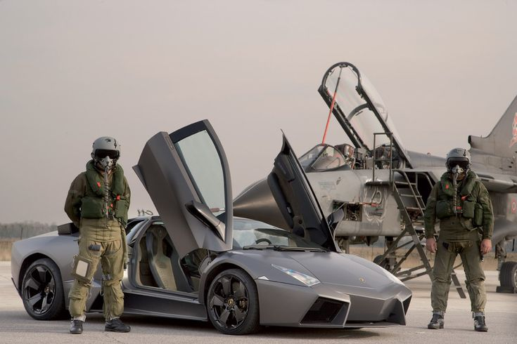 Lamborghini Reventon And a fighter jet. If I ever get to drive/fly anything resembling these two in a single day, it might be the best day of my life. Could crash and burn too but worst case scenario a good way to go out.
