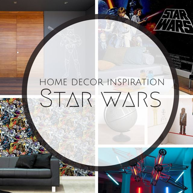 """A long time ago, in a galaxy far, far away....a movie inspired generations of fans and on """"Star Wars"""" Day we take a look at some cool home decor ideas which serves as an ode to this iconic movie. #StarWarsDay  Read more here http://bit.ly/1FK3e0H"""